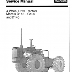Ford Versatile D118, D145 And G125 Tractors Service Manual