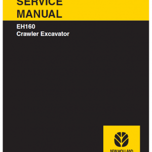 New Holland Eh160 Crawler Excavator Service Manual