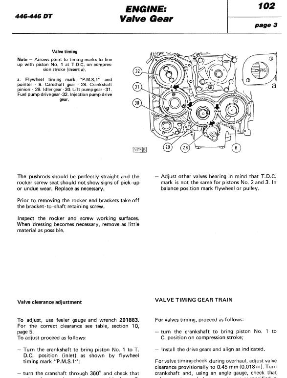 Fiat 446, 446dt Tractor Workshop Service Manual