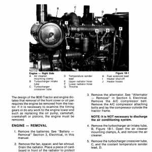 Ford Versatile 9030 Tractor Service Manual