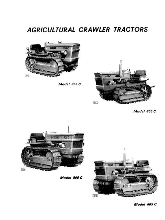 Fiat 355c, 455c, 505c, 605c Crawler Tractor Service Manual