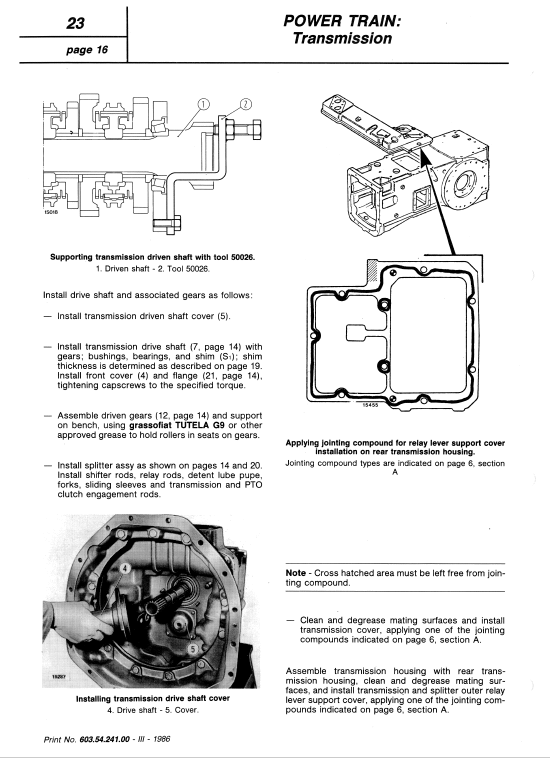 Fiat 50-90, 60-90, 70-90, 80-90, 90-90, 100-90 Tractor Service Manual