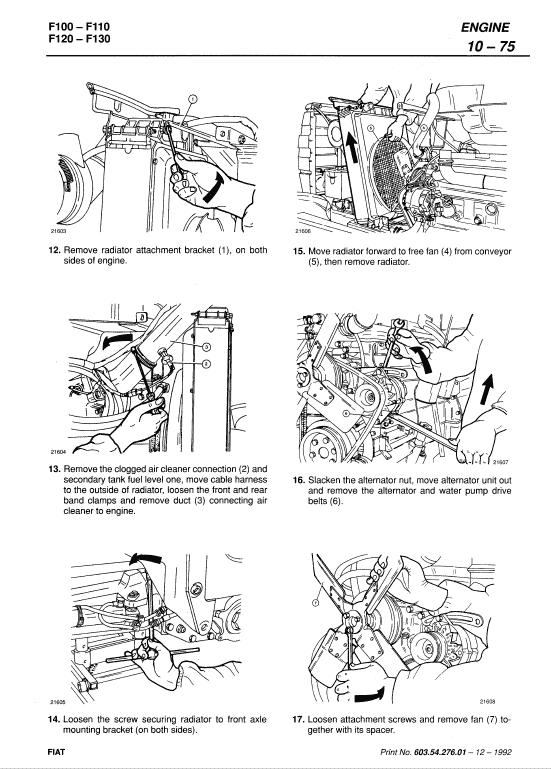 Fiat F100, F110, F120, F130 Tractor Workshop Service Manual