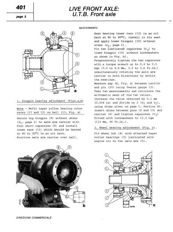 Fiat 450, 450dt Tractor Workshop Service Manual