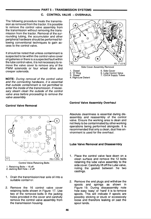 Ford 5640, 6640, 7740 Tractor Service Manual