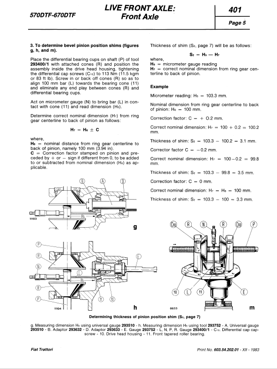 Fiat 570, 570dt, 670, 670dt Tractor Service Manual