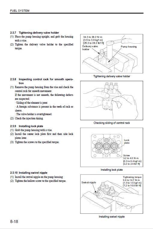 New Holland E18b Tier 4 Hydraulic Excavator Service Manual