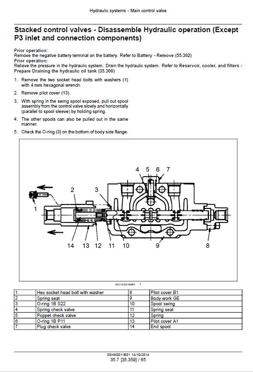 New Holland E35b Tier 4b Compact Excavator Service Manual