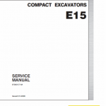 New Holland E15 Compact Excavator Service Manual