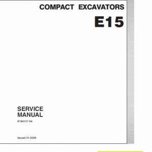 New Holland E15 Compact Excavator Service Manual