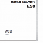 New Holland E50 Compact Excavator Service Manual