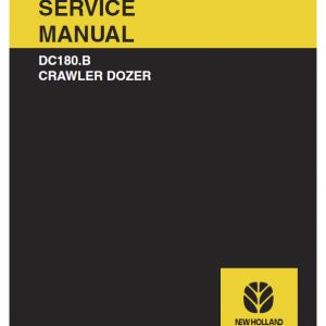 New Holland Dc180.b Crawler Dozer Service Manual