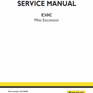 New Holland E30c Mini Excavator Service Manual