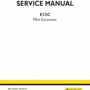 New Holland E33c Mini Excavator Service Manual