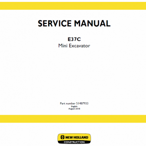 New Holland E37c Mini Excavator Service Manual