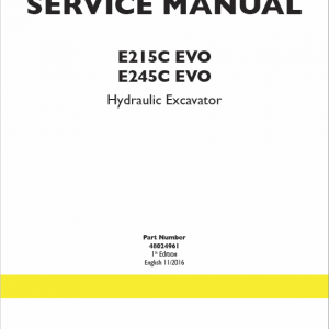 New Holland E245c Evo Excavator Service Manual