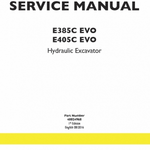 New Holland E405c Evo Excavator Service Manual