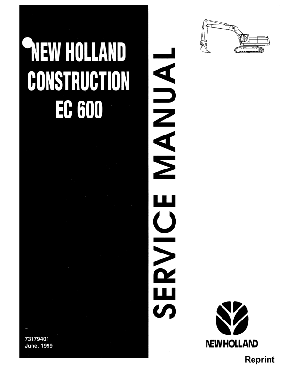 New Holland Ec600 Crawler Excavator Service Manual