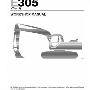 New Holland E265 And E305 Tier 3 Excavator Service Manual