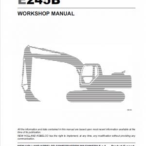 New Holland E215b, E245b Excavator Service Manual