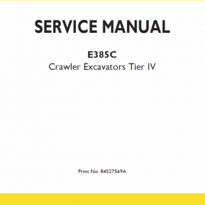 New Holland E385c Tier 4 Excavator Service Manual