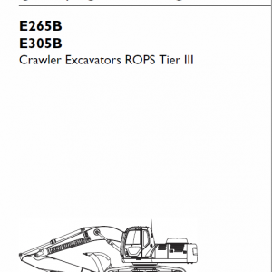 New Holland E265b, E305b Rops Tier 3 Excavator Service Manual