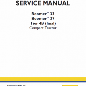 New Holland Boomer 33 And Boomer 37 Tractor  Service Manual