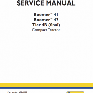 New Holland Boomer 41 And Boomer 47 Tractor Service Manual