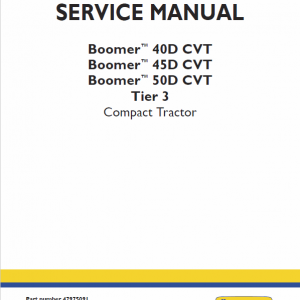 New Holland Boomer 40d Cvt, 45d Cvt, 50d Cvt Tractors Service Manual