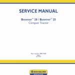 New Holland Boomer 20 And Boomer 25 Tractor Service Manual
