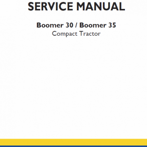 New Holland Boomer 30 And Boomer 35 Tractor Service Manual