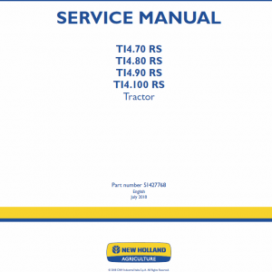 New Holland T14.90 Rs, T14.100 Rs Tractor Service Manual