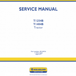 New Holland T1254b, T1404b Tractor Service Manual