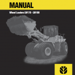 New Holland Lw170, Lw190 Wheel Loaders Service Manual