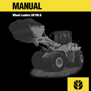 New Holland Lw190.b Wheel Loaders Service Manual
