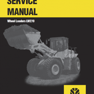 New Holland Lw270 Wheel Loaders Service Manual
