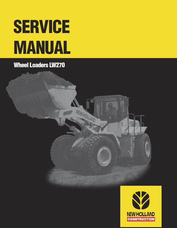 New Holland Lw270 Wheel Loaders Service Manual