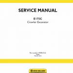 New Holland E175c Crawler Excavator Service Manual