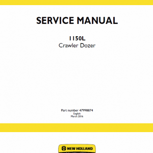 New Holland 1150l Crawler Dozer Service Manual