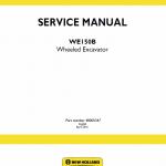 New Holland We150b Wheeled Excavator Service Manual
