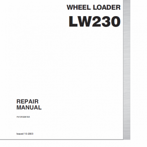 New Holland Lw230 Wheel Loader Service Manual