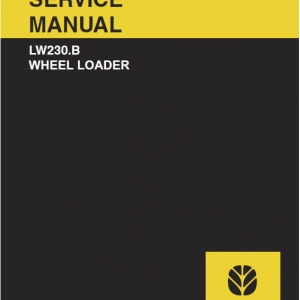 New Holland Lw230.b Wheel Loader Service Manual