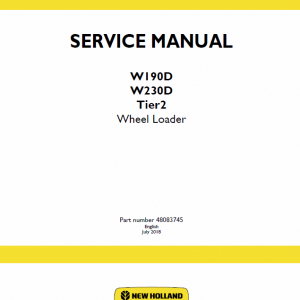 New Holland W190d, W230d Tier 2 Wheel Loader Service Manual