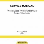 New Holland W50c, W60c, W70c, W80c Tier 4 Loader Service Manual