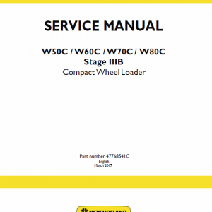 New Holland W50c, W60c, W70c, W80c Stage 3b Loader Service Manual