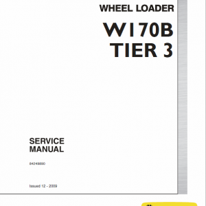 New Holland W170b Tier 3 Wheel Loader Service Manual