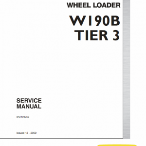 New Holland W190b Tier 3 Wheel Loader Service Manual