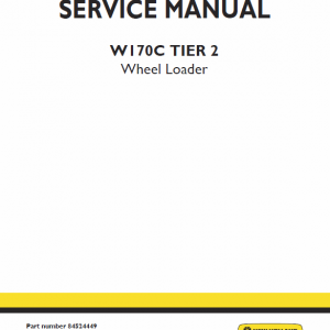 New Holland W170c Tier 3 Wheel Loader Service Manual