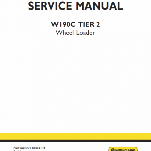 New Holland W190c Tier 2 Wheel Loader Service Manual