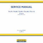 New Holland T4.75, T4.85, T4.95, T4.105, T4.115 Tractor Service Manual